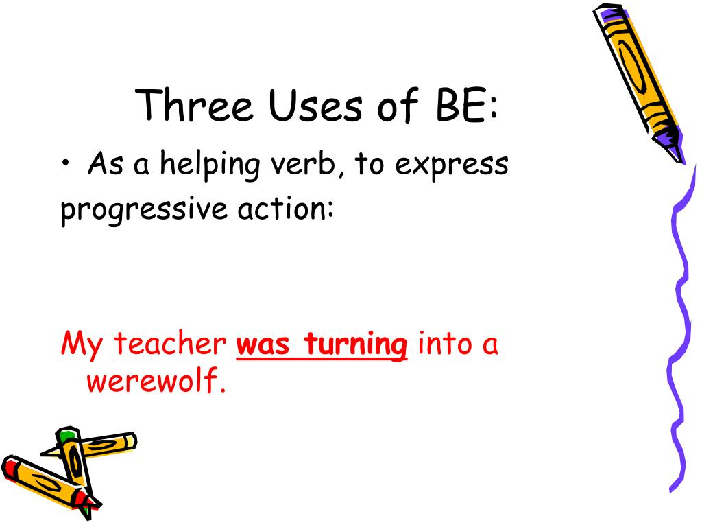 Three Uses of BE: