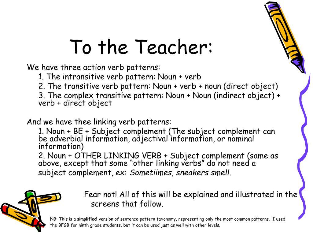 To the Teacher: