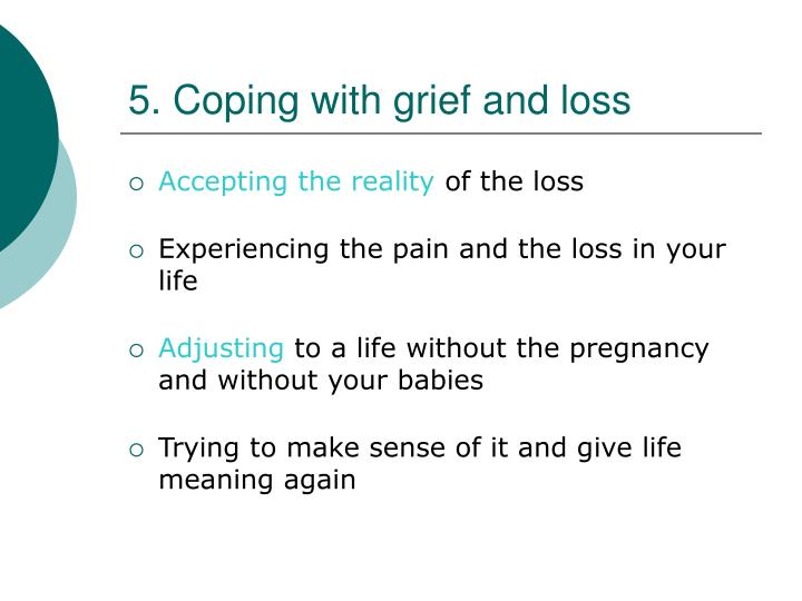 5. Coping with grief and loss