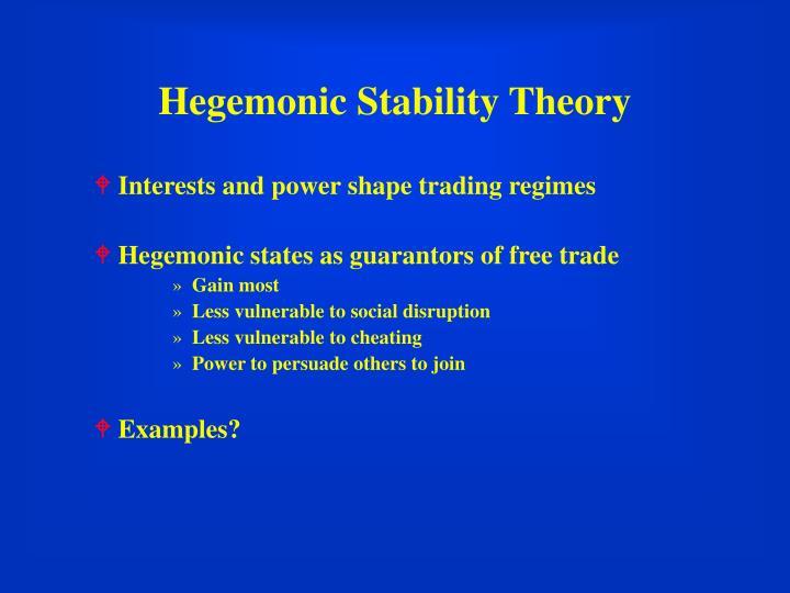 Hegemonic Stability Theory