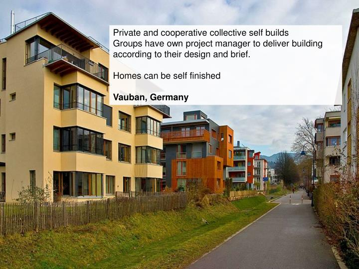 Private and cooperative collective self builds