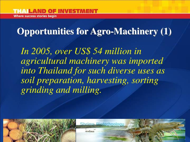 Opportunities for Agro-Machinery (1)