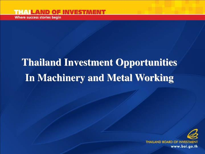 Thailand Investment Opportunities