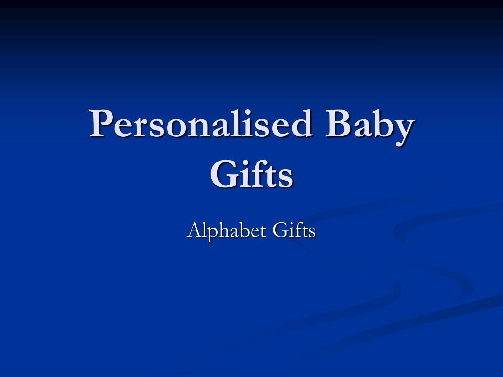 personalised baby gifts l.
