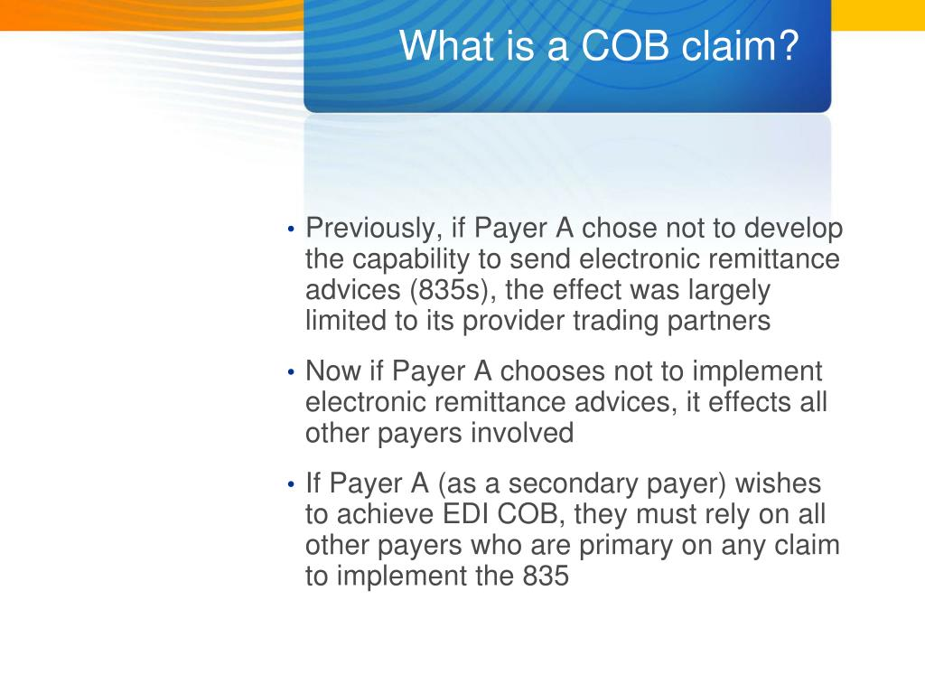 What is a COB claim?