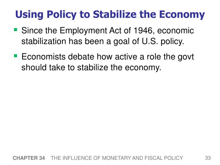 Using Policy to Stabilize the Economy