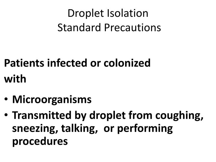 Droplet Isolation