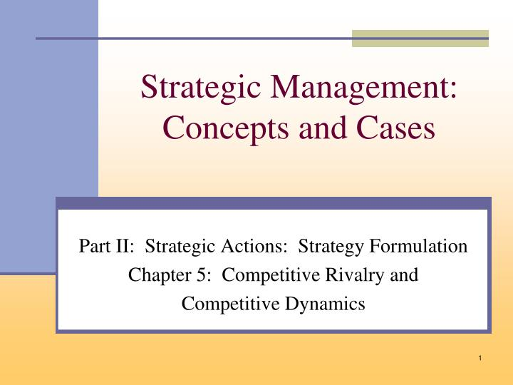 case 5 1 a strategy is