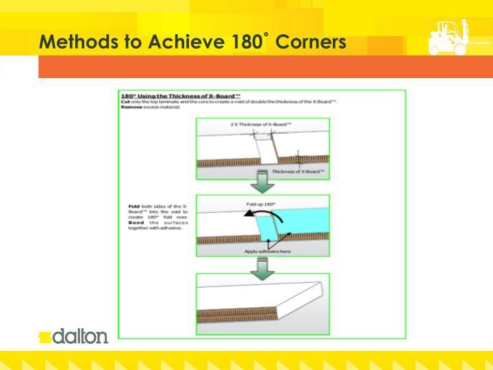 Methods to Achieve 180˚ Corners