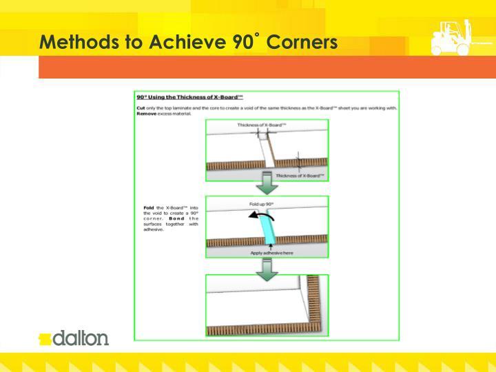 Methods to Achieve 90˚ Corners