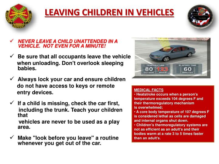 LEAVING CHILDREN IN VEHICLES