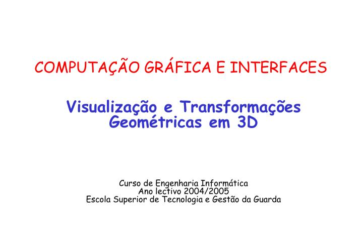 computa o gr fica e interfaces n.