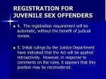 registration for juvenile sex offenders13