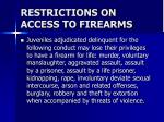 restrictions on access to firearms17