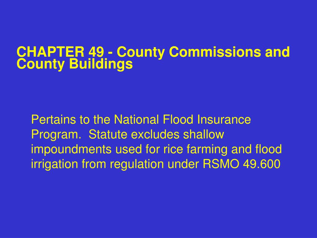 CHAPTER 49 - County Commissions and County Buildings
