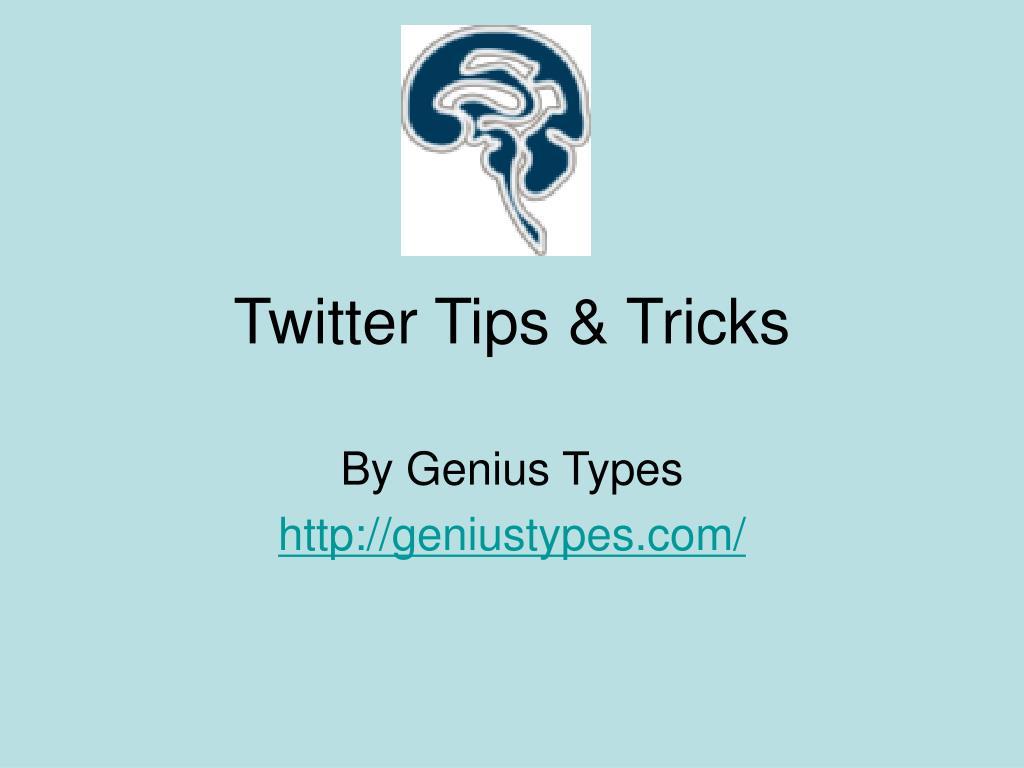 twitter tips tricks l.