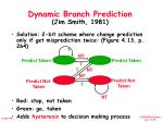 dynamic branch prediction jim smith 1981