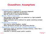oceanstore assumptions