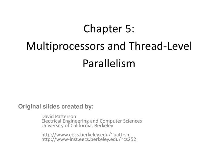 chapter 5 multiprocessors and thread level parallelism n.