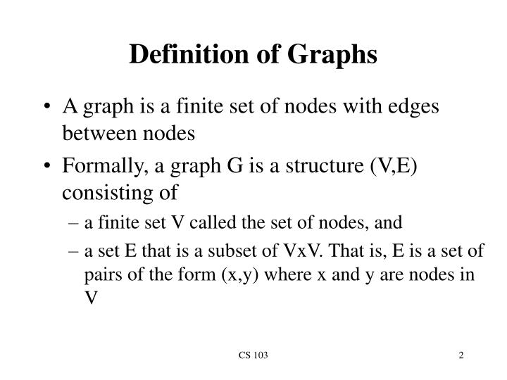 Definition of graphs
