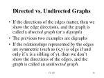 directed vs undirected graphs