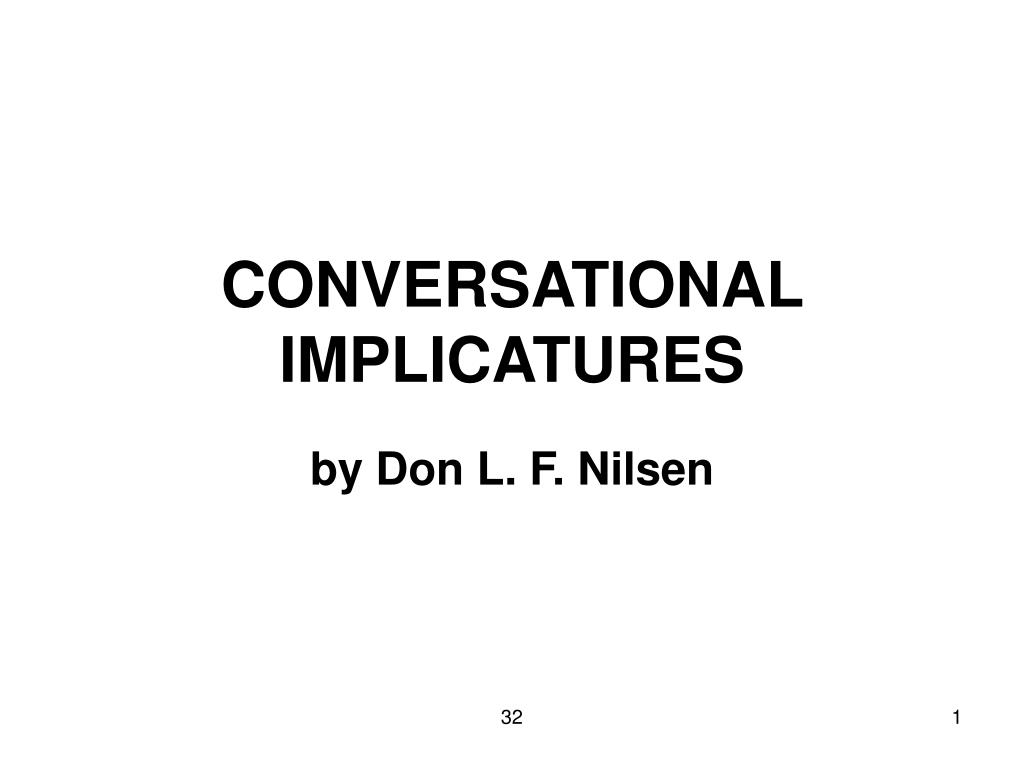 conversational implicatures l.