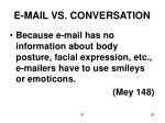 e mail vs conversation