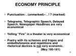 economy principle
