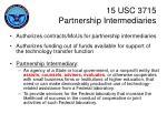 15 usc 3715 partnership intermediaries