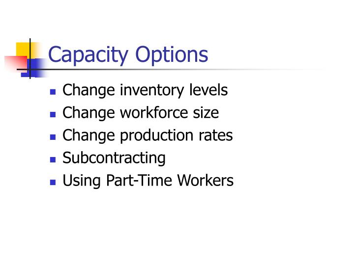 Capacity Options