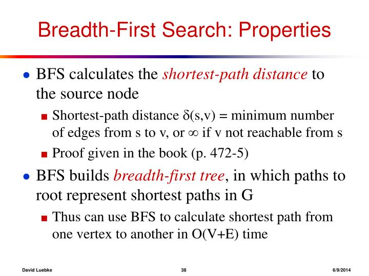 Breadth-First Search: Properties