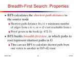 breadth first search properties