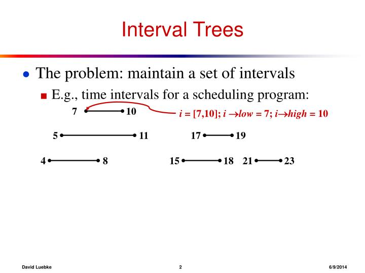 Interval trees