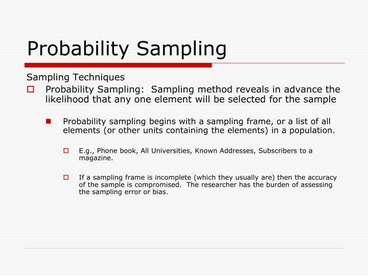 PPT - Sampling for Surveys PowerPoint Presentation - ID:1463934