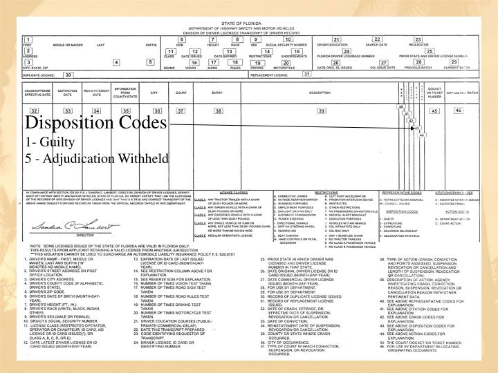 Disposition Codes