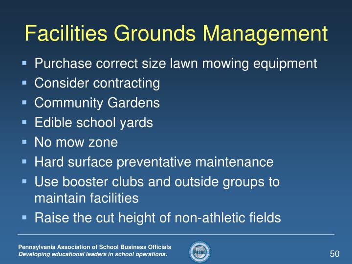 Facilities Grounds Management
