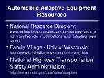 automobile adaptive equipment resources