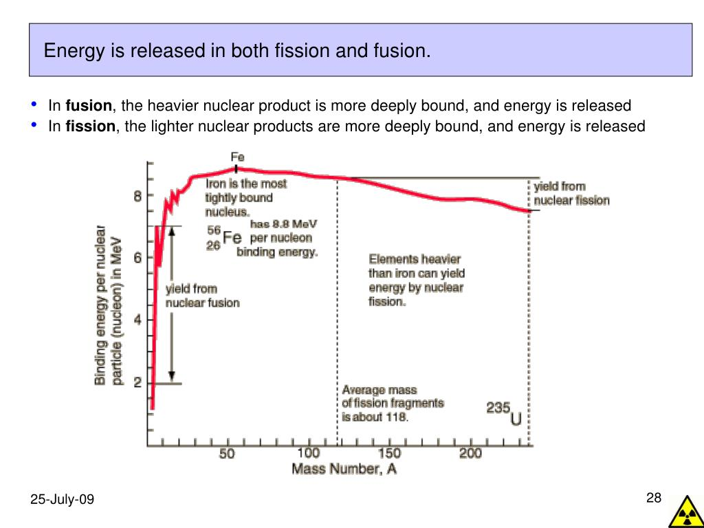 Energy is released in both fission and fusion.