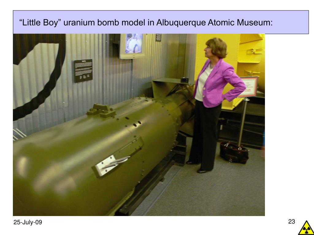 """Little Boy"" uranium bomb model in Albuquerque Atomic Museum:"