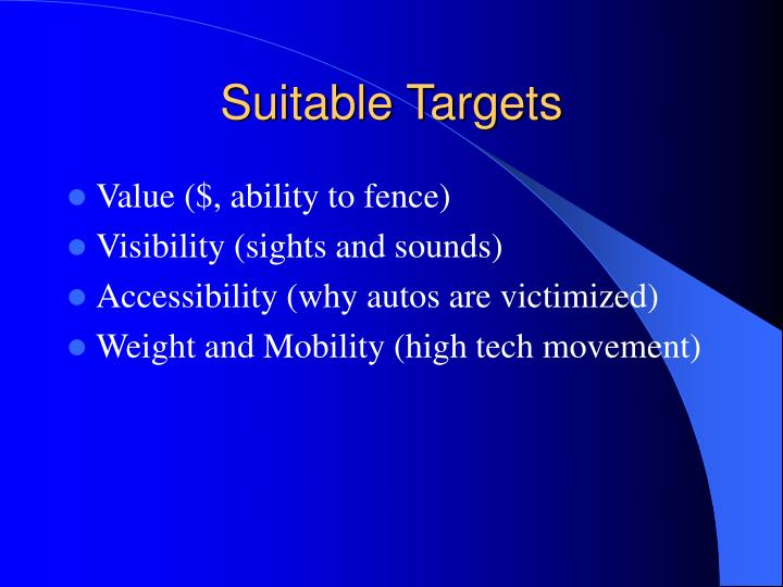 Suitable Targets