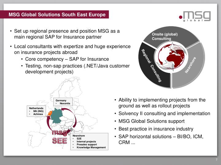 MSG Global Solutions South East Europe