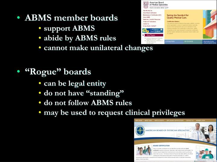 ABMS member boards