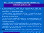 rule 37bb furnishing of information under sub section 6 of section 195
