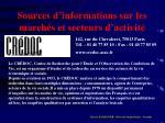 sources d informations sur les march s et secteurs d activit19