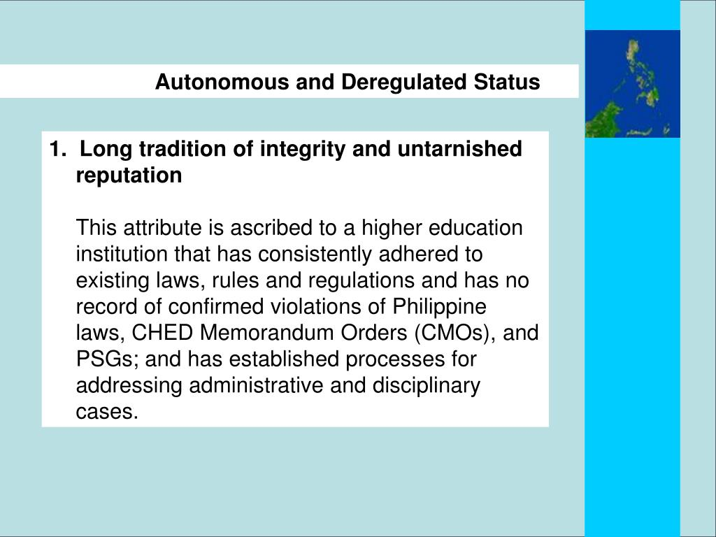 PPT - UNIVERSITY AUTONOMY IN THE CONTEXT OF THE PHILIPPINE