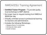 nwea esu training agreement