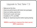 upgrade to test taker 7 3