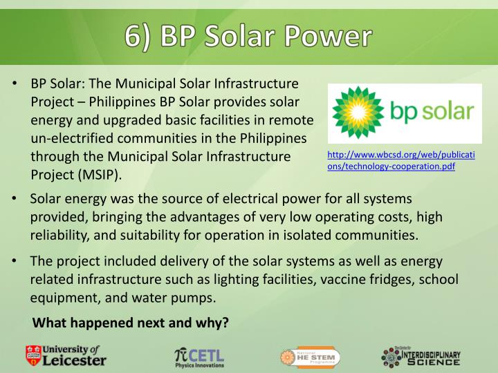 6) BP Solar Power