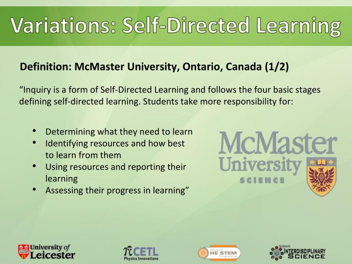 Variations: Self-Directed Learning