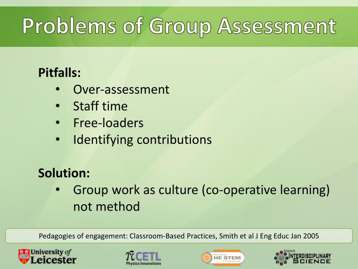 Problems of Group Assessment
